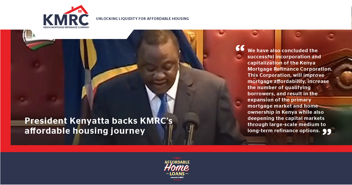 President Kenyatta backs KMRC's affordable housing journey